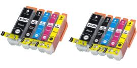 Huismerk Epson 33 XL/ T3351-T3361 t/m T3344 10 pack met chip
