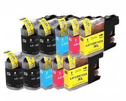 Huismerk Brother LC123 cartridges set 10-pack met chip