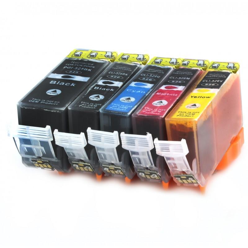 Huismerk CLI-525 / 526 cartridges 5-pack met chip