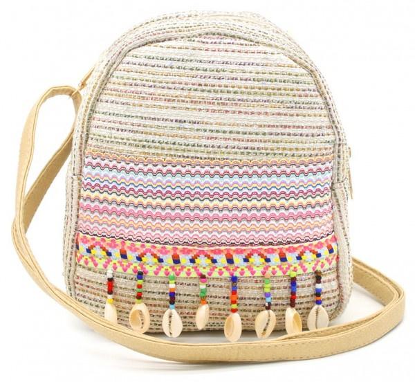 Ibiza backpack met glitters en schelpen
