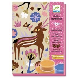 Djeco knutselpakket - Zandschilderij wonderlijk bos