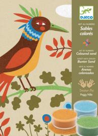 Djeco knutselpakket - Zandschilderij paradijsvogels