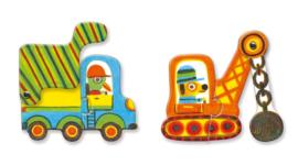 Djeco Puzzle Duo, Vehicles 6 x 2