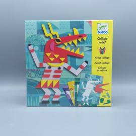 Djeco knutselpakket - Reliëfschilderij Monstergalerij