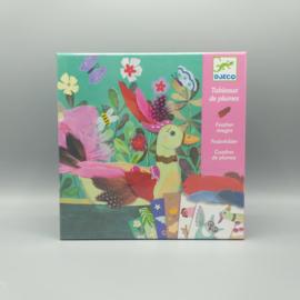Djeco knutselpakket - Verenschilderij  Chique veren