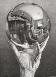 M.C. Escher - Hand met spiegelende bol 1000