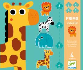 Djeco Primo puzzle - In de jungle 3/4/5/6