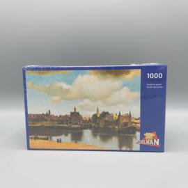 Johannes Vermeer- Gezicht op Delft 1000