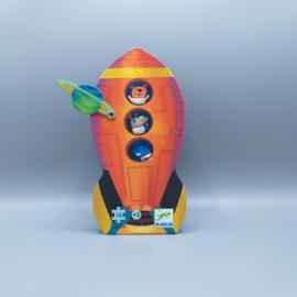 Djeco Silhouettepuzzel - Raket 16