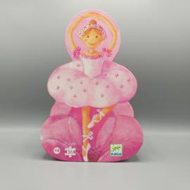 Djeco Silhouettepuzzel - Danseresje met bloem 36
