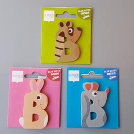 Scratch - Houten letters - B