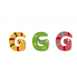 Scratch - Houten letters - G