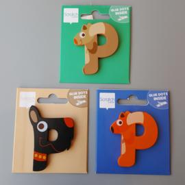 Scratch - Houten letters - P