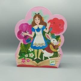 Djeco Silhouettepuzzel - Alice in Wonderland 50