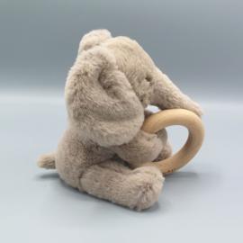 Jellycat  - Olifant met houten ring- Shooshu