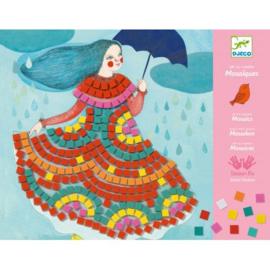 Djeco knutselpakket - Mozaiek feestjurken