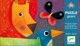 Djeco vloerpuzzel - Animal parade 36