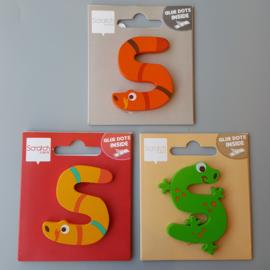 Scratch - Houten letters - S