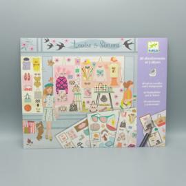 Djeco knutselpakket - Stickerset Fashionista