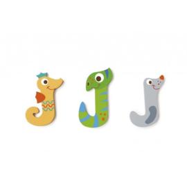 Scratch - Houten letters - J