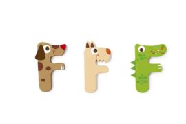 Scratch - Houten letters - F