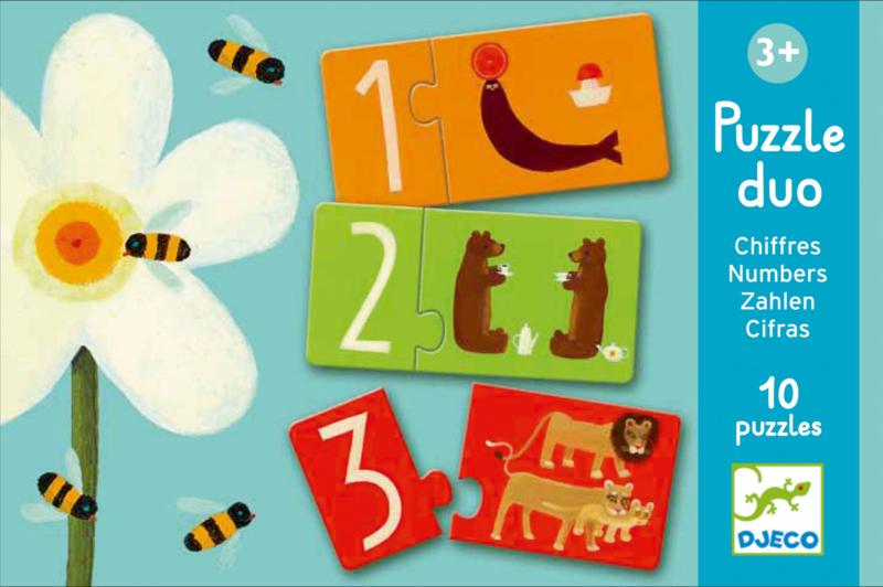Djeco Puzzle Duo - Numbers 6 x 2