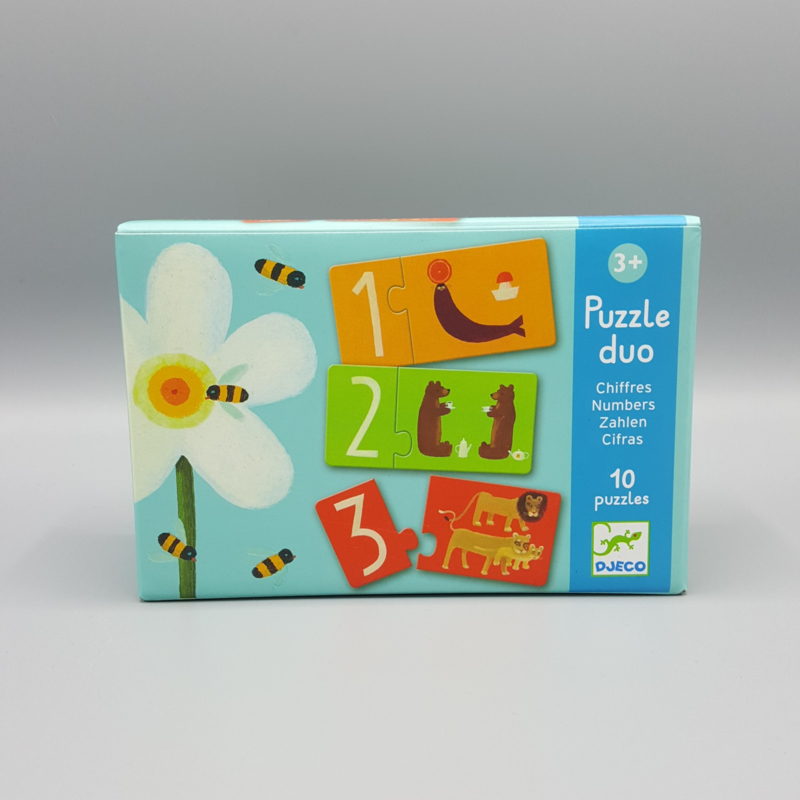 Djeco Puzzle Duo - Numbers 6 x 2