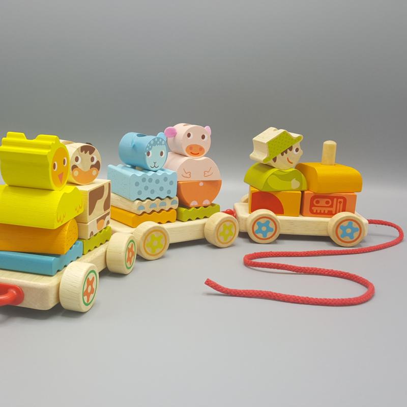 Djeco Blokkentrein - Creaferme