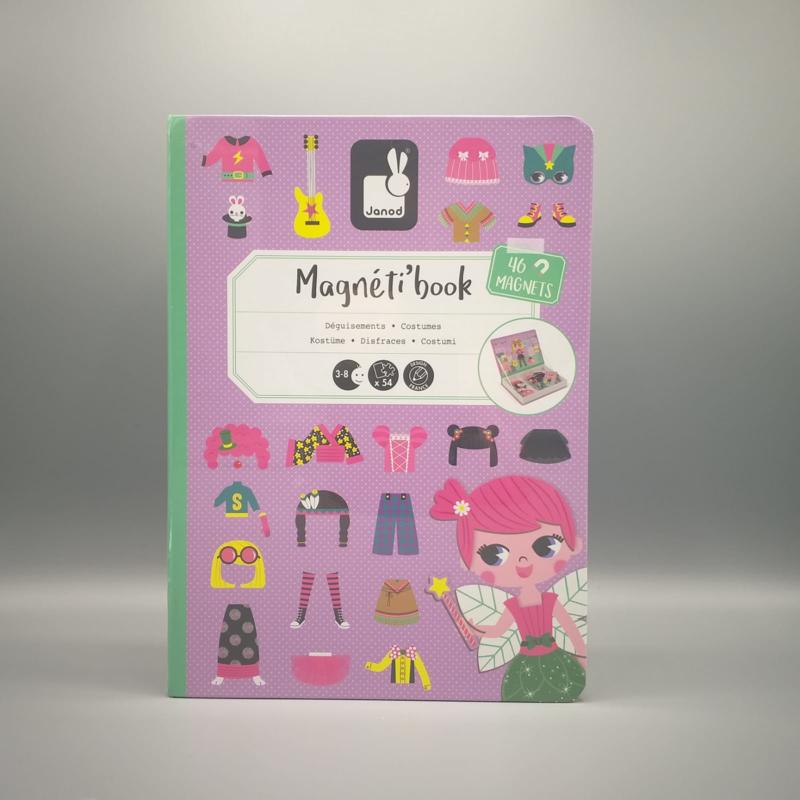 Janod - Magneti book - Kostuums roze