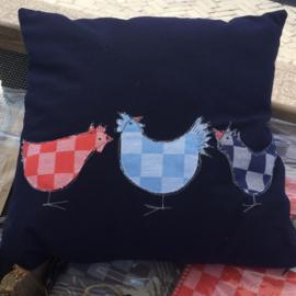 Kussen met kippen