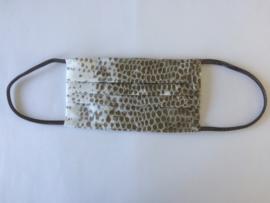 Mondkapje met slangenprint khaki