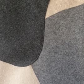 Modern wandkleed met vlakken, 66 x 82 cm