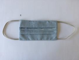 Mondkapje  in vintage blauw/groen, zonder neusbeugeltje