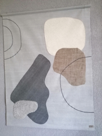 Modern wandkleed met vlakken, 90 x 120 cm