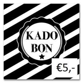 Kadobon Bij Dré t.w.v. €5,-