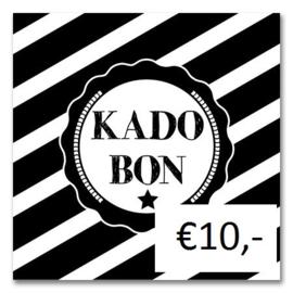 Kadobon Bij Dré t.w.v. €10,-