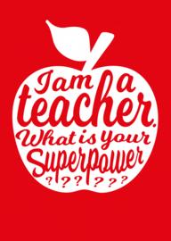 POSTKAART I AM A TEACHER ROOD