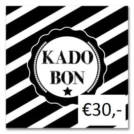 Kadobon Bij Dré t.w.v. €30,-
