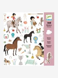160 stickers Paarden DJECO