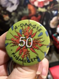 Button 50 kilometer Nijmeegse Vierdaagse