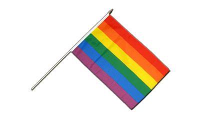 Regenboog stok vlagje