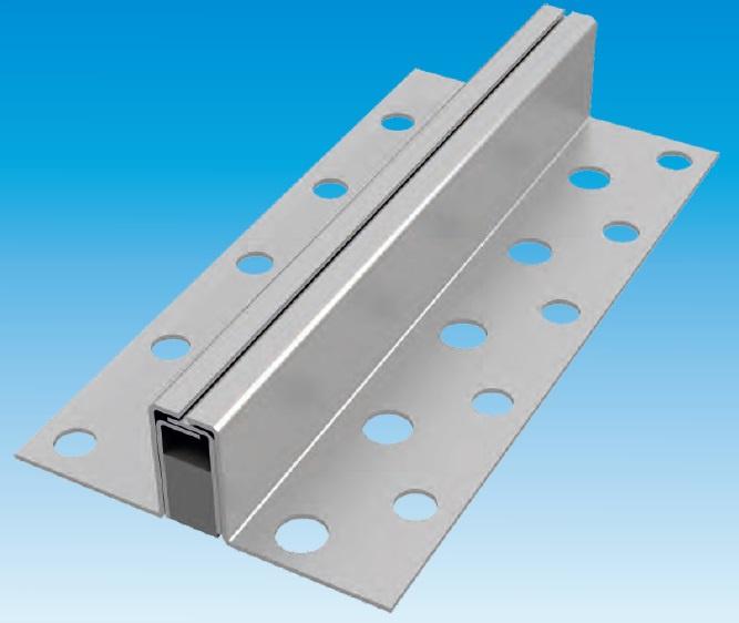 Krimpvoegprofiel 400 - RVS 18/40, profielhoogte 40 mm