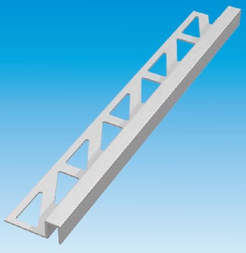 Gezet Overgangs-/ beëindigingsprofiel 602-AL-200 - profielhoogte 20 mm  (excl. materiaaldikte)