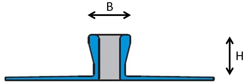 Schrumpf Tegelprofiel 600-AL hxb
