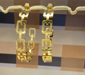 Oorringen goud groot schakel