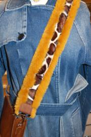 Schouderband bont oker/giraffe