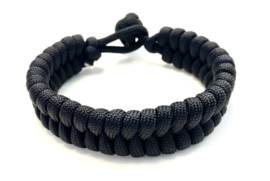 Armband gevlochten paracord zwart