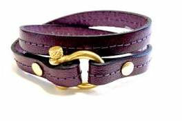 Armband plum harpsluiting goud