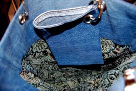 Tas brokaat/jeans