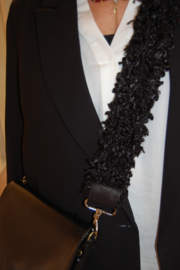 Schouderband bont zwart